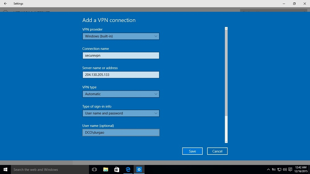 VPN Connection issue in Windows 10 - Life On Network